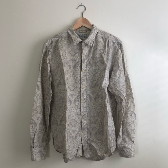 Lucky Brand Other - Lucky Brand Paisley Long Sleeve Button Down Sz M